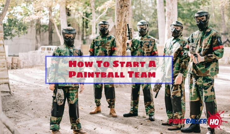 paintball team before a competition