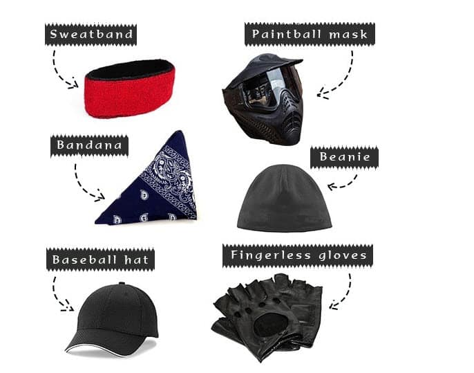 paintball gear for your head and hands